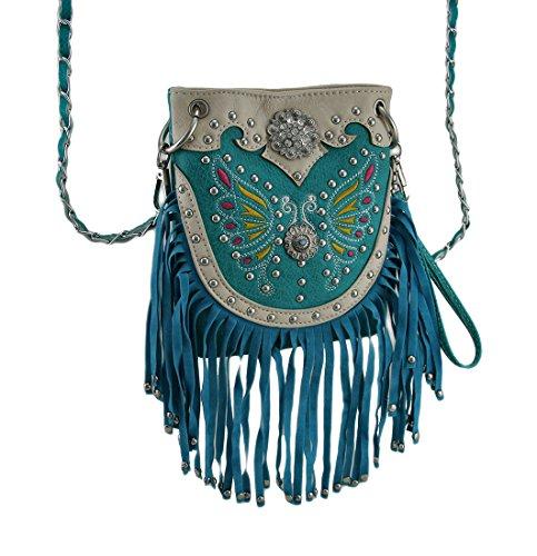 Zeckos , Sacs bandoulière femme turquoise