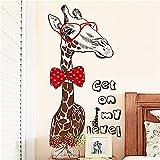 Wandtattoos WandbilderWohnzimmer Hintergrund Wand Wanddekoration Wandsticker Papier Ideen Schlafzimmer Study Tür Aufkleber Persönlichkeit Giraffe Wandsticker 60 * 90CM