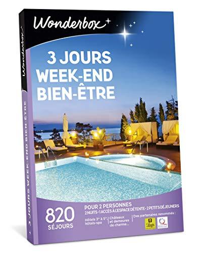 Wonderbox - Coffret cadeau couple - 3 JOURS WEEK-END BIEN-ETRE - idée cadeau- 820 séjours en hôtels-spa, manoirs