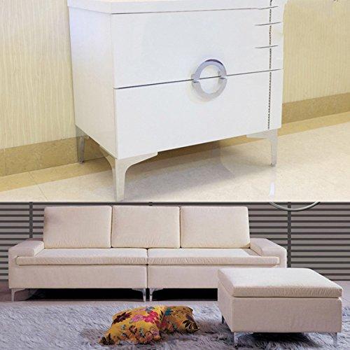 Generic NV _ 1001005590_ yc-uk2Crews PL Füße für Sofa Betten GS FE 4PC 1/4x R Sof Schränke Kleiderschrank S Cab chrom Sockel, Beine Ward Möbel + Schrauben 4PC 1/