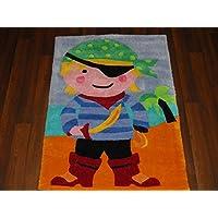 Kids Fun Fluffy Pirate Rug 70cm x 100cm