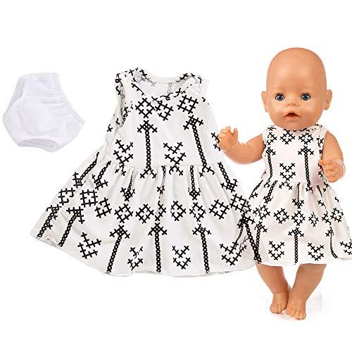 LCLrute 18 Zoll American Girl Puppe Schöne Phantasie Rock Kleid Puppenkleid für 18 Zoll American Girl Puppe Zubehör Mädchen Spielzeug (Weiß)