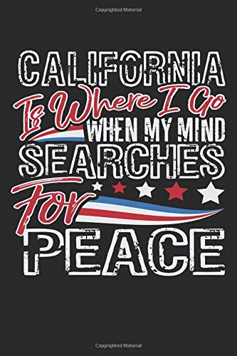 Journal: California Is Where I go When My Mind Searches for Peace por 5point56design Journals