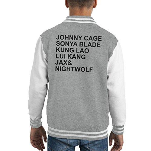r Character List Kid's Varsity Jacket (Sonya Mortal Kombat)