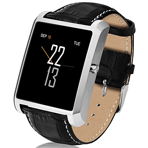 Novateur Smart Watch with Bluetooth Calls, Pedometer, Heart Rate and Notifications (Silver)