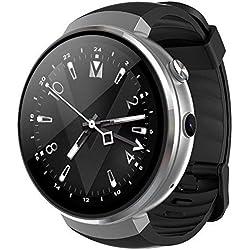LEMFO LEM7 - Android 7.0 4G LTE Smartwatch, Reloj teléfono cámara de 2MP, MT6737 16GB ROM, traductor Incorporado, Banco de energía, Bluetooth/GPS / Monitor de frecuencia cardíaca - Plata