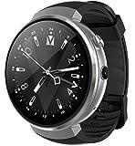LEMFO LEM7 - Android 7.0 4G LTE Smartwatch, Uhr Telefon 2MP Kamera, MT6737 16GB ROM, eingebauter Übersetzer, Powerbank, Bluetooth/GPS / Pulsmesser - Silber