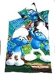 Schtroumpfs Bettwäsche–Bettbezug wendbar 140x 200cm + Kopfkissenbezug 63x 63cm, Mikrofaser–Öko-Tex–Die Schlümpfe–Smurfs–Pejo