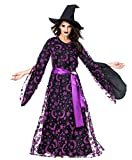 XINXIN Purple Star Moon Magic Witch Kostüm Halloween Night Bar Party Party Hexen Spielanzug,L