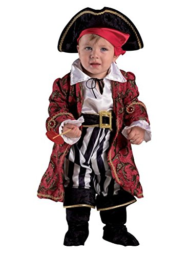 Premium Piratenkostüm für Jungen Alter 6-24 Monate – 5-teiliges Kinder-Kostüm Pirat für Fasching, Karneval, Fastnacht (Größe: (Einfache Männer Kostüm Piraten)
