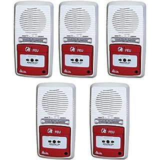 Packung mit 5 Alarmen Typ 4 mit Blitzlicht