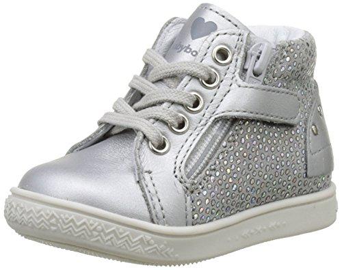 BabybotteAubladi - Pantofole a Stivaletto Bambina , argento (Argent (Argent)), 20 EU