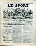 SPORT (LE) [No 59] du 23/07/1892 - VENTES AUX ENCHERES - CH. GROSSMANN - CE QU'IL NE FAIT PAS FAIRE EN VOITURE....