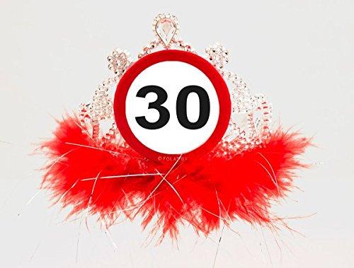 Feder - Motiv: Verkehrsschild - für 30. Geburtstag ()