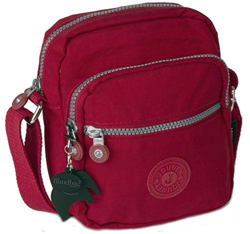 Big Handbag Shop - Borsa a tracolla unisex Red