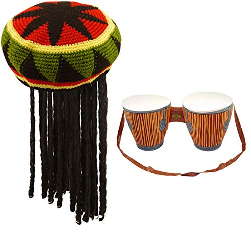 Rasta Hut Mit Dreadlocks - Islander Fashions Jamaican Rasta-Hut mit Dreadlocks