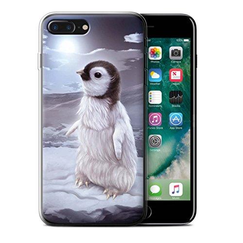 Officiel Elena Dudina Coque / Etui Gel TPU pour Apple iPhone 7 Plus / Oui Maman/Lion/Petit Design / Les Animaux Collection Le Voyageur/Manchot