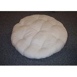 Rattan im Trend Coussin pour fauteuil papasan en lin Gris 100cm