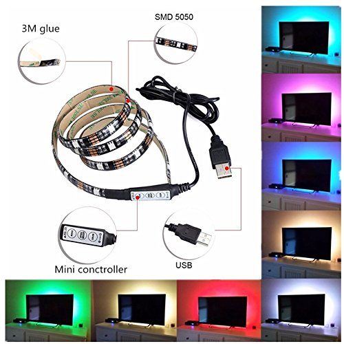 USB Mode Light for TV LED Light Strips Rope Light Backlight for TV Computer