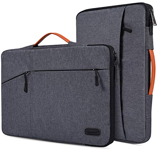 Laptop-Tasche für MacBook Air 13 A1932, MacBook Pro 13 2018/2017, Surface Pro 6/5/4, Dell XPS 13, Google Pixelbook 12.3, 360 schützende Notebook-Tasche. grau (Space Grey) 15.6 Inch (Dell Latitude 15 5000)