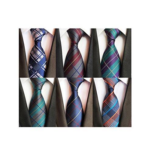 LOLONG Herren Krawatte 8 cm klassische handgefertigte Business Krawatte für Büro oder festliche Veranstaltungen