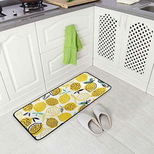 Jereee Cute Cartoon Cherry Antirutsch-Küchenmatte, rechteckig, Polyester, Fußmatte, Fußmatte, Fußmatte, Heimdekoration, 99 x 51 cm - Schlafzimmer Kollektion Von Cherry