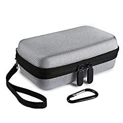 Faylapa Hard EVA Nylon Shockproof Travel Carrying Case Bag for HP Sprocket Portable Photo Printer (Silver Gray)