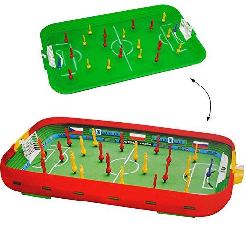 alles-meine.de GmbH Tischfußball - Spiel __ Komplettset incl. Spieler & Ball & Tor - Fußballspiel - Fußball / Kicker für den Tisch - Tischfussball Spiel - Tischfußballspiel - Kic.. (Hoch Ein Ist Wie Fußballtor)