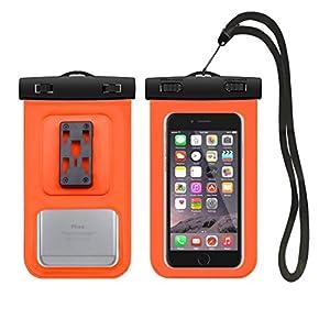 Description: Protège votre précieux téléphone 100% sûr de l'eau, de la poussière et de la neige - que vous soyez à la plage, baignoire, piscine, bateau ou profiter de la pluie. Entièrement transparent les deux côtés avant et arrière, idéal pour pren...