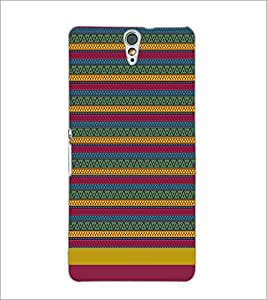 PrintDhaba Tribal pattern D-1886 Back Case Cover for SONY XPERIA C5 ULTRA (Multi-Coloured)