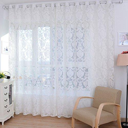 Voile tende trasparenti francese fiori recisi oscuranti tende elegante filato drappeggiato 100cm x 200 cm volant tenda finestra decorative tende camera da letto balcone doccia tende di ventilazione