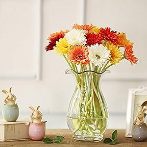 Yuwegr – Ramo de Flores Artificiales de crisantemo de Gerbera Colorida para decoración del hogar o la Boda