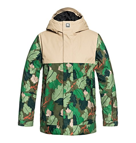 DC Shoes Jungen Defy Snow Jacket, Chive Leaf camo, 16/XXL
