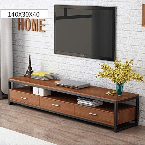LJPzhp Floating-TV-Ständer TV Wohnzimmer Aufbewahrung TV Media Stand/Tabelle (Farbe : Braun, Größe : 140x40x30cm) -