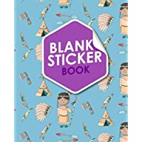 Blank Sticker Book: Blank Sticker Album For Boys, Sticker Album For Collecting Stickers Girl, Blank Sticker Collecting Book, Sticker Collecting Book, Cute Cowboys Cover: Volume 7 (Blank Sticker Books)