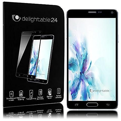delightable24 Écran Protection Verre Trempé Résistant Èraflure Glass Screen Protector Couvre 100% pour SAMSUNG GALAXY NOTE 4 Smartphone - Transparent