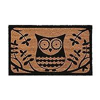 Natural Coir Owl Anti Slip Entrance Floor Doormats Front Back Non Slip Door Mats Rug Runner