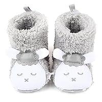 ZUMUii Butterme Newborn Baby Girls Warm Coral Velvet Shoes Cute Sheep Panda Prewalker Winter Snow Boots