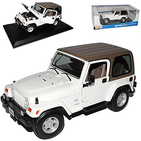 Jeep Wrangler Sahara Weiss Hard Top 1/18 Maisto Modellauto Modell