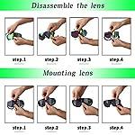 X-TIGER-Occhiali-Ciclismo-Polarizzati-con-3-Lenti-Intercambiabili-Occhiali-Bici-Antivento-e-Antiappannamento-Occhiali-Sportivi-da-Sole-Anti-UV-da-Uomo-Donna-per-Corsa-MTB-e-Running