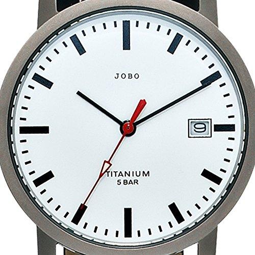 JOBO Damen-Armbanduhr Quarz Analog Titan Mineralglas Lederarmband wasserdicht