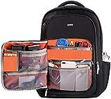 GXFLO Laptop-Rucksack Multifunktions-Business-Rucksack Laptop-Rucksack Mit 2 Seiten Erweitert Taschen Reiserucksack Frauen Männer Kompatibel Mit 17-17,3