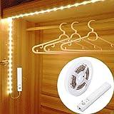 1M 30LED Luce LED da guardaroba con sensore di movimento,OriFiil Striscia LED sensori di movimento Luce notturna,3000k bianco caldo per armadi, armadietti,corridoi, camere da letto (100cm)