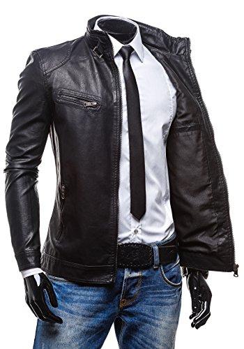 EXTREME - Veste - Faux cuir - Fermeture éclair – EXTREME 288 - Homme Noir