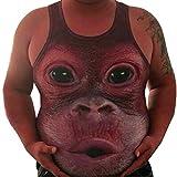 Malloom® Männer Plus Größe elastisches ärmelloses Korpulenzoberseiten-Behälter-Weste-Oansatz Bluse (dunkel rot, XXXL)