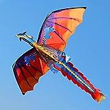 Mentin Cerf-Volant en Forme d'dragon - Cerf-Volant en Forme Dragon idéal pour Les...