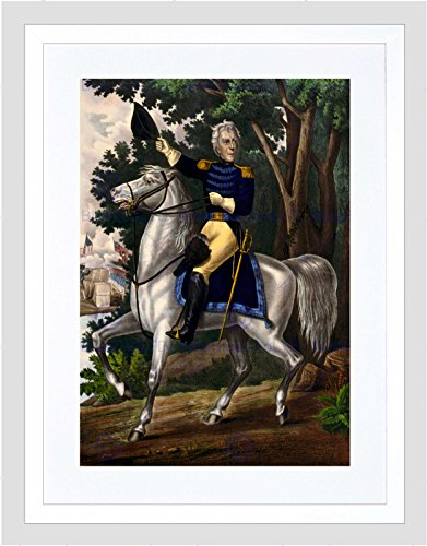 Preisvergleich Produktbild PAINTINGS LITHOGRAPH ANDREW JACKSON GENERAL WAR 1812 FRAMED PRINT B12X10948
