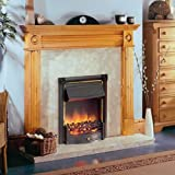 Dimplex Horton 2kw Inset Electric Fire Black Finish c/w Real Coal Effect