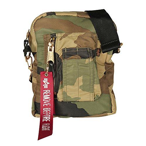 Alpha Industries Tasche Flyers Kit Bag, Größe:one size, Farbe:wdl camo 65 (Alpha Umhängetasche)