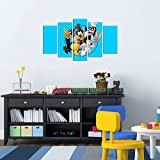 LaModaHome Deko 100% MDF Art Wand 5Elementen (109,2x 61cm Gesamt) fertig Zum Aufhängen Malerei Bugs Bunny und Friends Tasmanian Devil Tweety Cartoon Multi Varianten in Store.